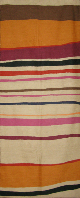 """Cantaloupe Stripe"" rug runner from the Kim Parker Home collection"