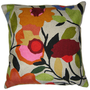 Begonias designer pillow from the Kim Parker Home collection