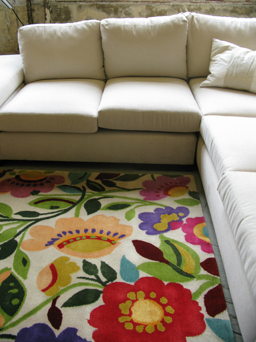 """Dickon's Garden"" plush designer rug from Kim Parker Home"