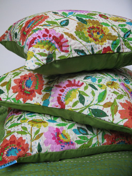 """Kim Parker Home"" Kantha Pillows"