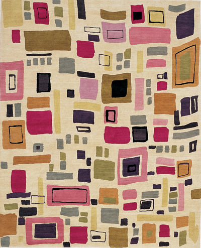 """Manhattan"" designer rug from the Kim Parker Home collection"