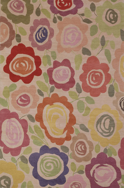 """Tea Roses"" designer rug from the Kim Parker Home collection"