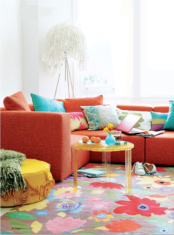 Kim Parker Bolero Designer rug featured in Living ETC --