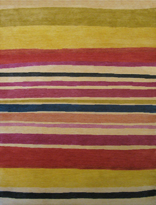 """Sunrise Stripe"" designer rug from the Kim Parker Home collection"
