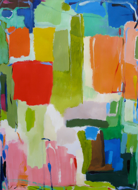"""Urban Essay 3"" by Kim Parker. 22'' X 30'' ; Acrylic on paper. Copyright Kim Parker 2012. All rights reserved."