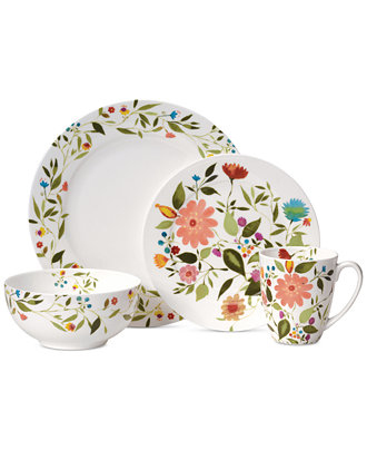 Kim Parker Woodland Floral Tableware collection