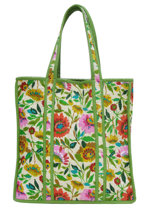 "Kim Parker ""Anil's Garden"" designer tote bag. Available exclusively at www.kimparker.tv"