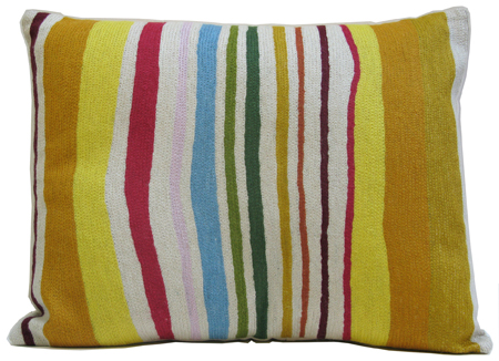 """Tuscan Stripe"" designer pillow from the Kim Parker Home Collection"