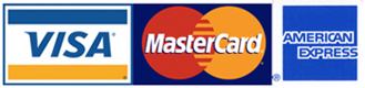 Visa Mastercard and AMEX credit card logos